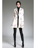 cheap Women's Blazers & Jackets-ZIYI Women's Work Sophisticated Trench Coat-Floral Print Stand