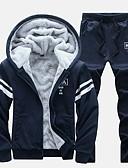 お買い得  メンズフーディー&スウェットシャツ-男性用 活発的 / ストリートファッション パンツ - レタード ブラック / フード付き / 長袖 / 冬