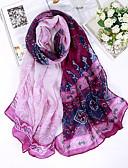 billige Modetørklæder-Dame Rektangulær - Bomuld Hør Trykt mønster