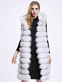 cheap Women's Two Piece Sets-Women's Basic Plus Size Loose Fur Coat-Solid Colored