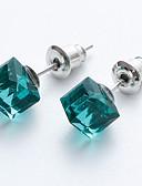 ieftine Tricou-Pentru femei Cristal Cercei Stud - Cristal Plin de graţie, femei, Elegant Roz / Verde Deschis / Verde Închis Pentru Serată Scenă