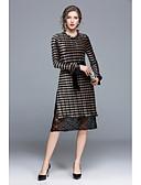 povoljno Ženske haljine-Žene Slatko Shift Korice Haljina Color block Midi