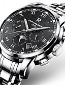 cheap Mechanical Watches-Men's Military Watch Bracelet Watch Wrist Watch Japanese Automatic self-winding Stainless Steel Black / Silver / Gold 30 m Water Resistant / Waterproof Calendar / date / day Chronograph Analog Luxury