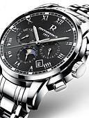 ieftine Ceasuri Mecanice-Bărbați Ceas Militar Ceas Brățară Ceas de Mână Japoneză Mecanism automat Oțel inoxidabil Negru / Argint / Auriu 30 m Rezistent la Apă Calendar Cronograf Analog Lux Casual Modă Elegant Crăciun -