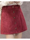 preiswerte Damen Röcke-Damen Klassisch & Zeitlos Rock Röcke - Volltonfarbe