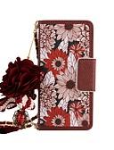 billige Maxikjoler-Etui Til Samsung Galaxy S8 Plus / S8 / S7 edge Lommebok / Kortholder / med stativ Heldekkende etui Blomsternål i krystall Hard PU Leather
