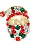 tanie Kwarcowy-Męskie / Damskie Broszki - Imitacja diamentu damska, Podstawowy Broszka Biżuteria Złoty Na Święta