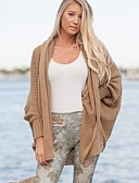 cheap Women's Sweaters-Women's Long Sleeves Long Cardigan - Solid, Knitting