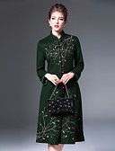 cheap Women's Coats & Trench coats-8CFAMILY Women's Boho A Line Dress - Embroidered Stand