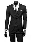 cheap Men's Blazers & Suits-Men's Business Formal Slim Suits-Solid Colored,Basic