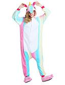 preiswerte Herren Pullover-Kigurumi-Pyjamas Fliegendes Pferd / Unicorn Pyjamas-Einteiler Kostüm Flanell Regenbogen Cosplay Für Erwachsene Tiernachtwäsche Karikatur
