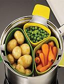 baratos Vestidos Femininos-3 pcs cesta de vapor pendurado alimentos steamer microondas cozinha cozinha