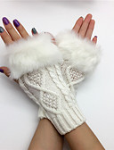 cheap Gloves-Women's Cute Wrist Length Half Finger Gloves - Solid Colored Mesh