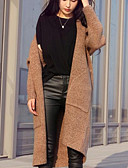 cheap Women's Sweaters-Women's Long Sleeve Long Cardigan - Solid Colored V Neck / Winter