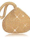 cheap Women's Belt-Women's Bags Polyester Evening Bag Crystals Gold / Black / Silver