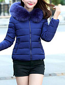 cheap Women's Down & Parkas-Women's Going out Street chic Skinny Padded - Solid Colored