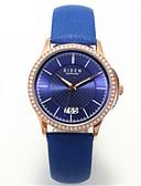זול קווארץ-בגדי ריקוד נשים שעון יד Japanese לוח שנה / שעונים יום יומיים עור להקה יום יומי / אופנתי / אלגנטית שחור / לבן / כחול