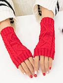 cheap Women's Gloves-Unisex Wrist Length Half Finger Gloves - Solid Colored / Winter
