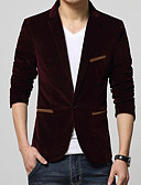 cheap Men's Blazers & Suits-Men's Cotton Blazer - Solid Colored