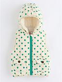 preiswerte Kleidersets für Mädchen-Mädchen Weste Gepünktet Baumwolle Ärmellos Grün