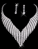ieftine Rochii Fata cu Flori-Pentru femei Set bijuterii - Include Cercei Picătură / Lănțișor Alb Pentru Nuntă / Petrecere