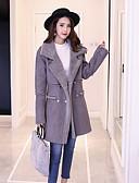 olcso Kabát & Viharkabát-Napi Alkalmi Utcai sikk Hegyes Női Hosszú Kabát Egyszínű Tél Ősz Kasmír Gyapjú Poliészter Modern stílus