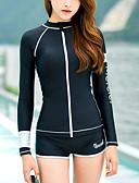 tanie Damskie spodnie-Damskie Sportowy look Czarny Nogawka Bikini Stroje kąpielowe - Solidne kolory M L XL / Kołnierz stawiany