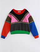 cheap Girls' Tops-Girls' Rainbow Blouse, Cotton Winter Long Sleeves Rainbow