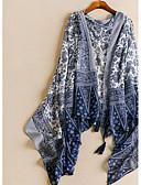billige Modetørklæder-Dame Rektangulær - Bomuld Trykt mønster