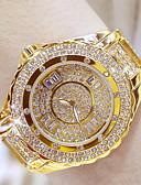 Недорогие Кварцевые часы-Жен. Эксклюзивные часы Наручные часы Diamond Watch Японский Нержавеющая сталь Серебристый металл / Золотистый 30 m Аналоговый Дамы Bling Bling - Золотой Серебряный