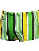 baratos Roupas Íntimas e Meias Masculinas-Homens Shorts de Natação Resistente ao cloro Fibra Sintética / Elastano Roupa de Banho Roupa de Praia Bermuda de Surf Riscas Natação / Surfe