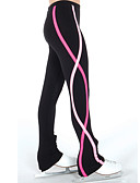 cheap Ice Skating Dresses , Pants & Jackets-Figure Skating Pants Women's / Girls' Ice Skating Pants / Trousers / Leggings Red / Blue Spandex Stretchy Practise Skating Wear Spiral Stripe Ice Skating / Figure Skating / Winter