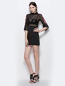 preiswerte Damen Kleider-Damen Hülle Kleid Hohl Mini Rollkragen Hohe Taillenlinie