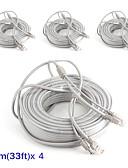 preiswerte Herren Blazer & Anzüge-Kabel 4PCS 33ft CCTV RJ45 Video Cable DC Power Extension für Sicherheit Systeme 1000cm 1.23kg