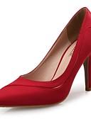 abordables Vestidos de cóctel-Mujer Zapatos Seda Primavera / Otoño Confort Tacones Tacón Stiletto Dedo Puntiagudo Fucsia / Rojo / Azul / Boda / Fiesta y Noche
