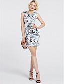 baratos Vestidos Estampados-Mulheres Para Noite Sofisticado Delgado Bainha Vestido - Estampado, Floral Mini
