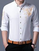 ieftine Maieu & Tricouri Bărbați-Bărbați Guler Clasic Cămașă Bumbac Șic Stradă - Floral Imprimeu / Manșon Lung