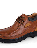 halpa Häähunnut-Miesten Muodolliset kengät Nahka / Nappanahka Talvi Comfort / muodollinen Kengät / Fluff Vuori Oxford-kengät Tumman ruskea / Vaalean ruskea / Juhlat