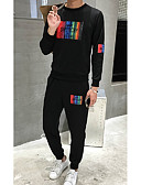 cheap Men's Hoodies & Sweatshirts-Men's Street chic Long Sleeve Sweatshirt - Solid Colored, Modern Style Round Neck