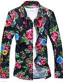 billige Hettegensere og gensere til herrer-Bomull Skjorte - Blomstret Chinoiserie Herre