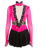 cheap Ice Skating Dresses , Pants & Jackets-Figure Skating Dress Women's Girls' Ice Skating Dress Spandex Lace Rhinestone Lace High Elasticity Performance Practise Skating Wear