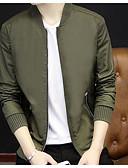 cheap Men's Jackets & Coats-Men's Cotton Jacket Print