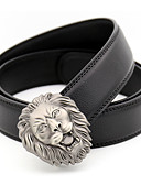 cheap Fashion Belts-Men's Party Work Leather Alloy Waist Belt - Solid Colored Metal