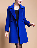 cheap Women's Coats & Trench Coats-Women's Going out Street chic Plus Size Wool Coat - Solid Colored, Oversized
