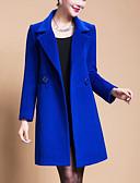 お買い得  レディースコート&トレンチコート-女性用 お出かけ プラスサイズ コート - ストリートファッション ソリッド, ウール 特大の