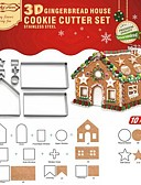 halpa Naisten kaksiosaiset asut-Bakeware-työkalut Ruostumaton teräs + A luokka ABS Christmas Cookie Pie Työkalut 1set