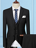 cheap Men's Blazers & Suits-Men's Long Suits-Solid Colored / Long Sleeve / Work
