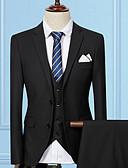 abordables Americanas y Trajes de Hombre-Hombre Largo trajes Un Color / Manga Larga / Trabajo