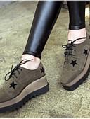 halpa Hääpuvut-Naisten Kengät PU Talvi Comfort Oxford-kengät Tasapohja Varpaat peitetty Musta / Armeijan vihreä