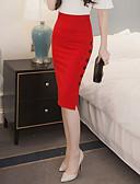 baratos Suéteres de Mulher-Mulheres Moda de Rua Trabalho Bodycon Saias - Sólido